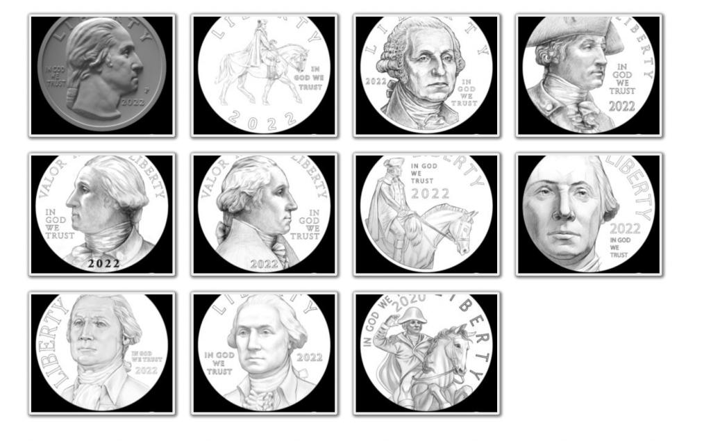 American Women Quarter Program Obverse Candidates (Image Courtesy of The United States Mint)