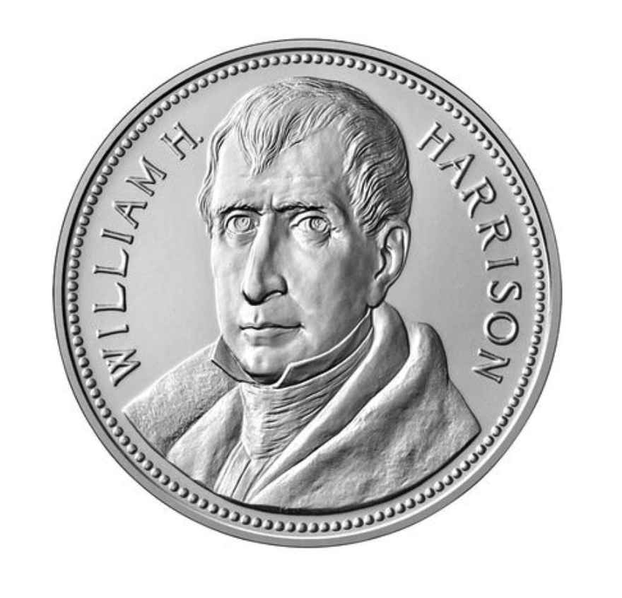 William Henry Harrison Presidential Silver Medal (Image Courtesy of The United States Mint)