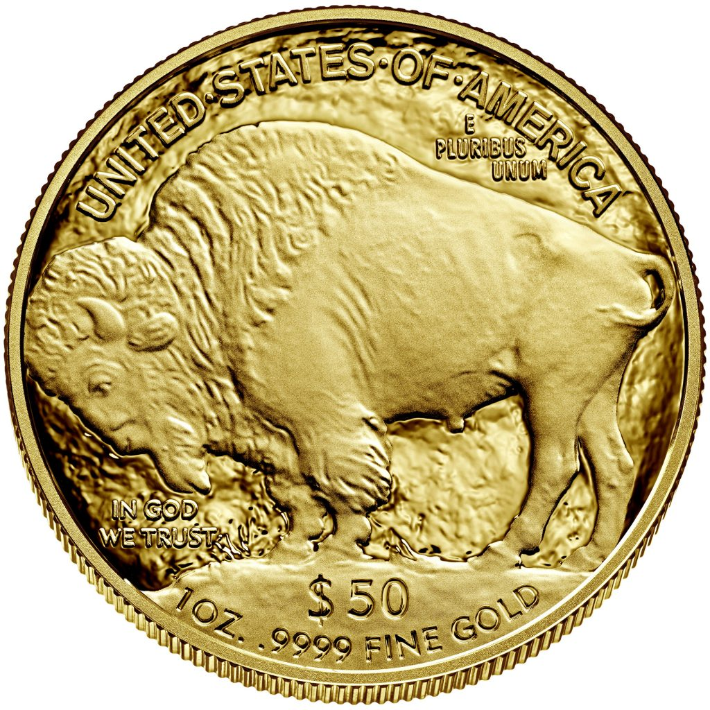2021 American Buffalo Gold Proof Reverse (Image Courtesy of The United States Mint)