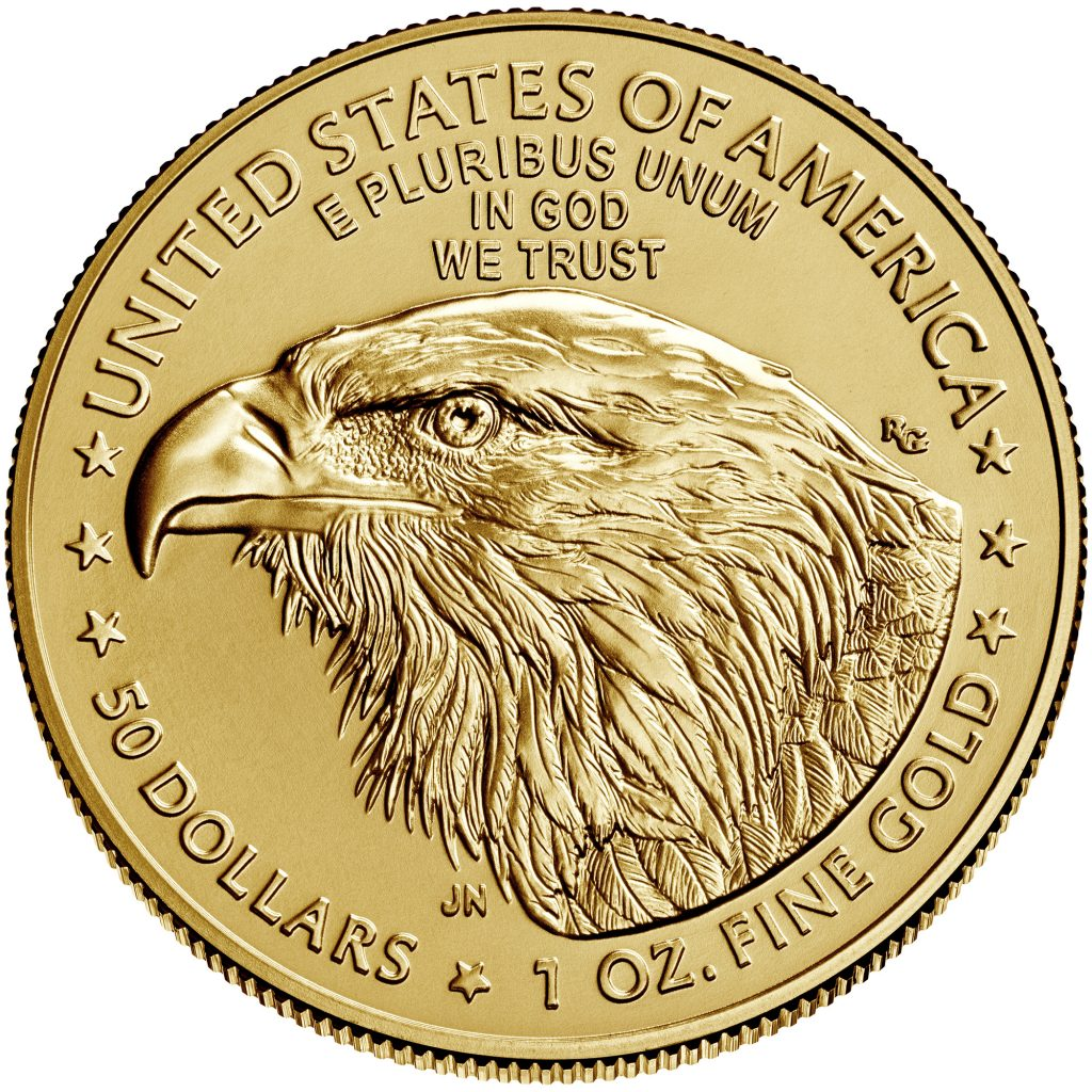 2021 American Eagle Type-2 Gold Reverse (Image Courtesy of The United States Mint)