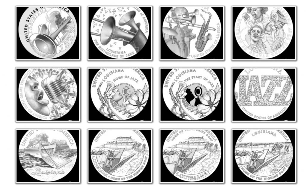 2023 American Innovation Dollar Candidate Designs - Louisiana Page 1