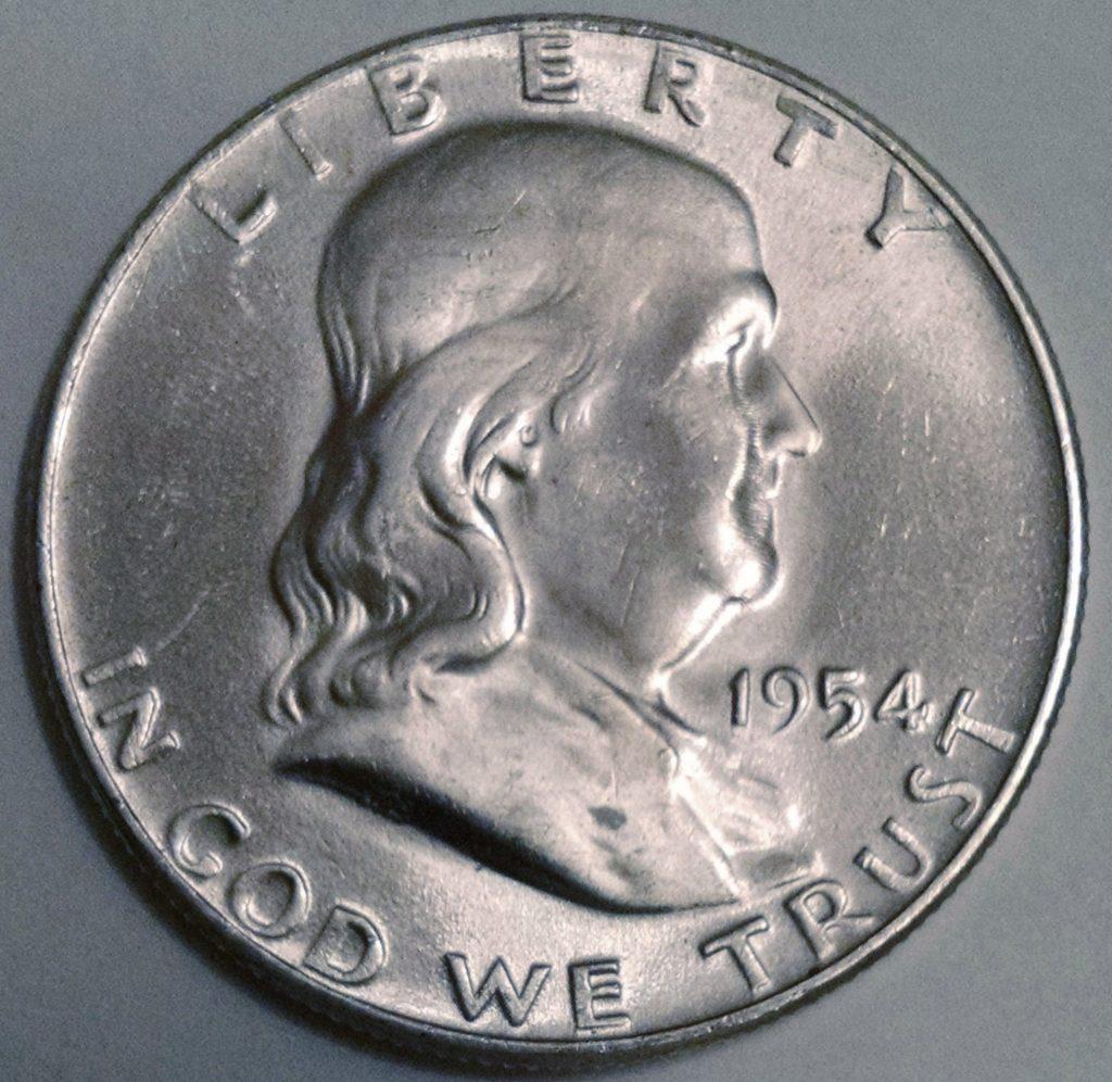 1954 Franklin Half Dollar Obverse