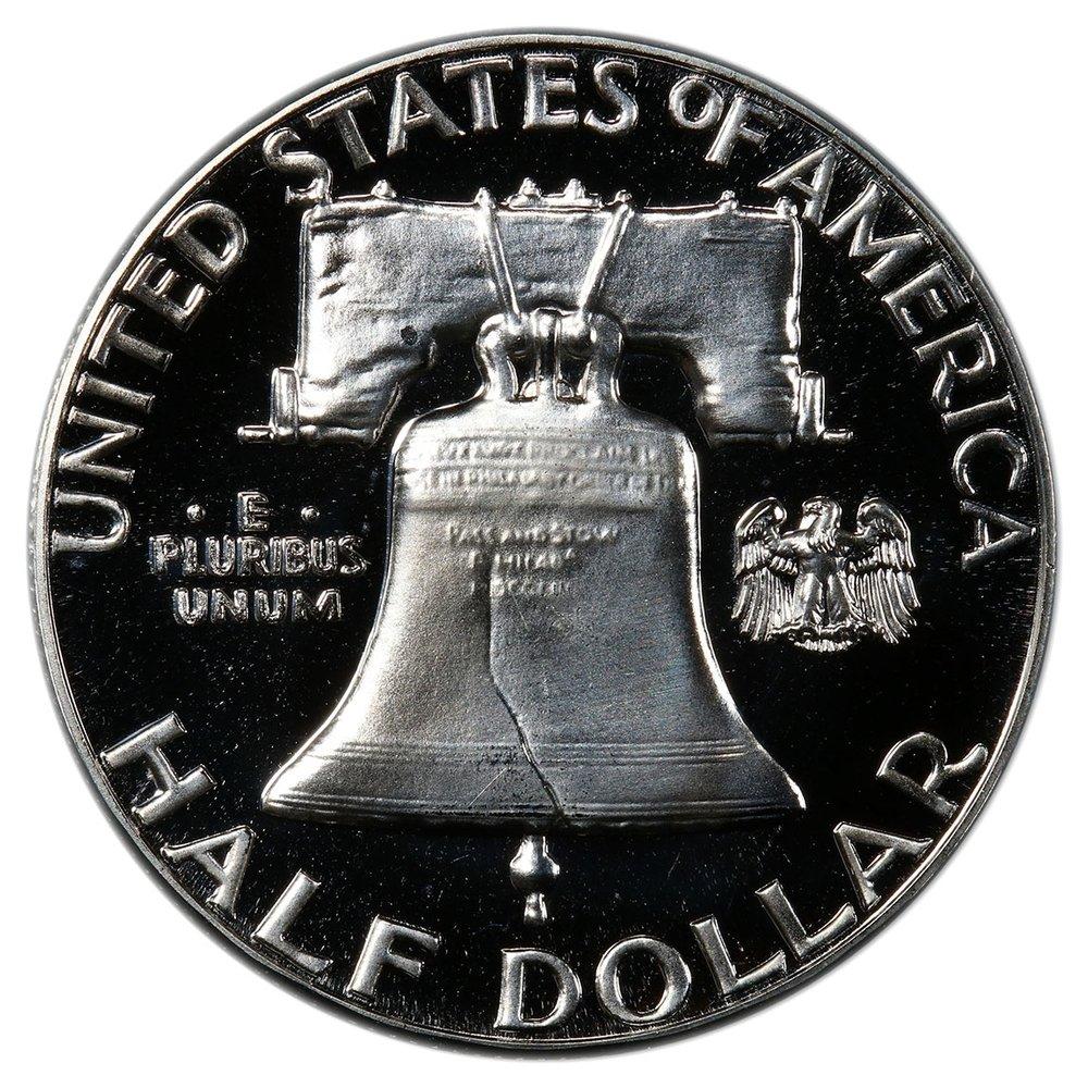 1962 Franklin Half Dollar Reverse