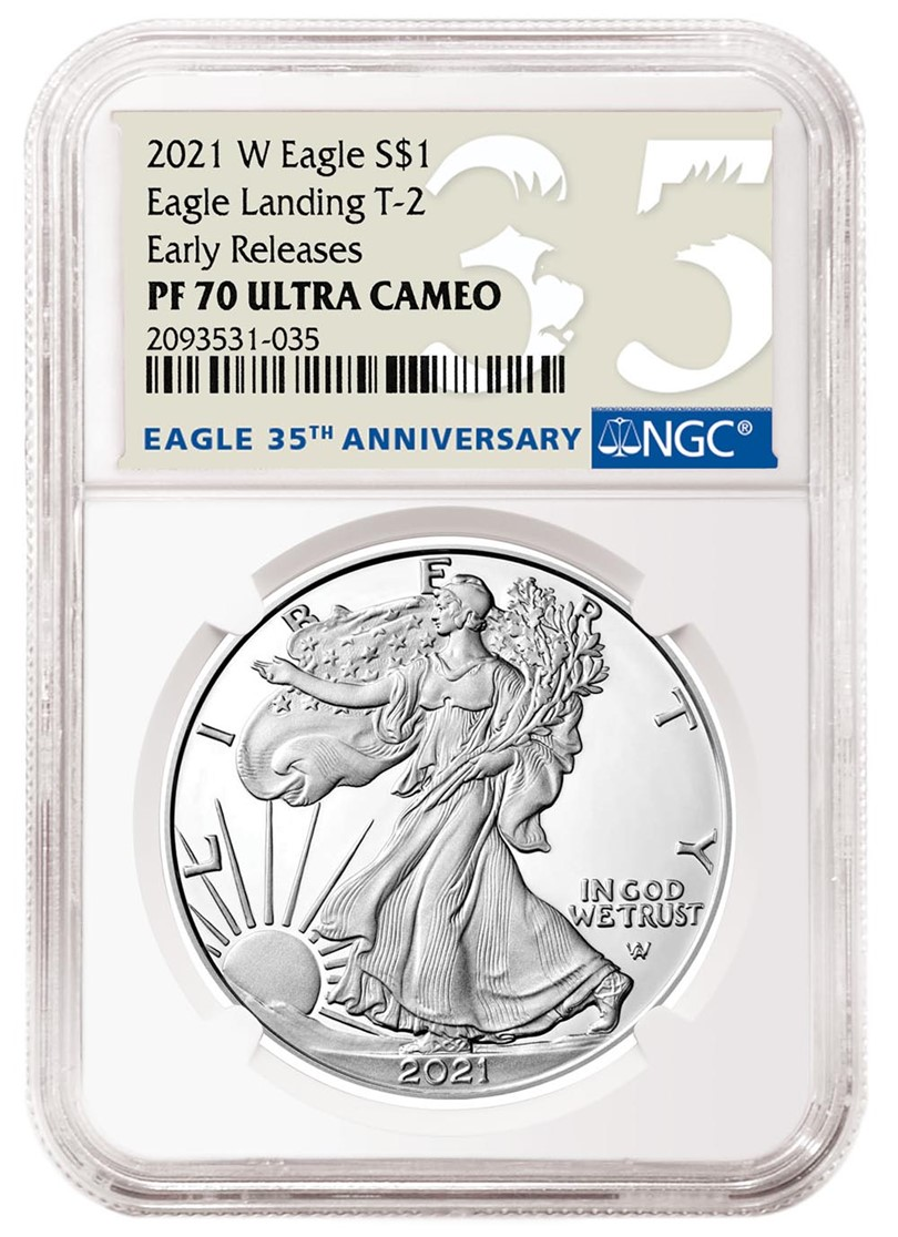 2021-W Proof American Eagle Special Label (Image Courtesy of NGC)