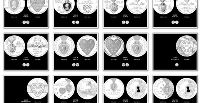 CCAC Releases Candidate Images for The 2022 National Purple Heart Hall of Honor Commemorative Coins
