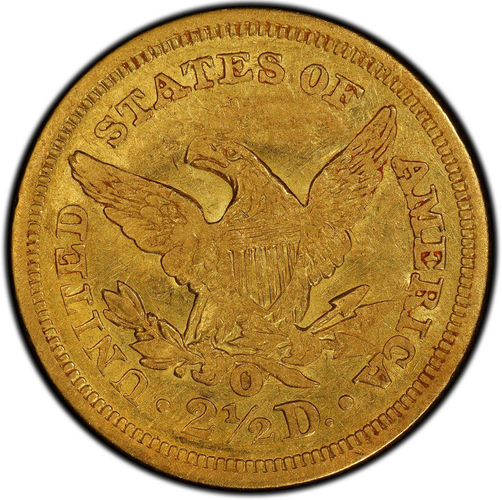Back-of-unique-1854-New-Orleans-Quarter-Eagle-gold-coin