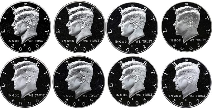 Today's Deal – 2000-2007 Kennedy Half Dollar Proof 8-Coin Set