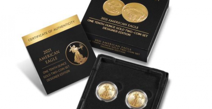 2021-W American Eagle One-Tenth Ounce Gold 2-Coin Set Goes On Sale August 5th