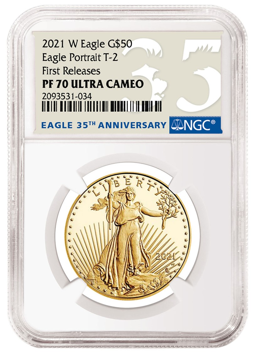 2021-W American Eagle NGC Special Labels (Image Courtesy of NGC)