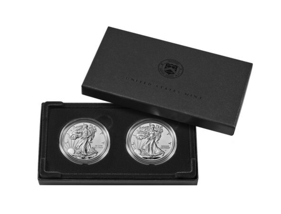 2021 American Eagle Silver Reverse Proof Two-Coin Set Designer Edition (Image Courtesy of The United States Mint)