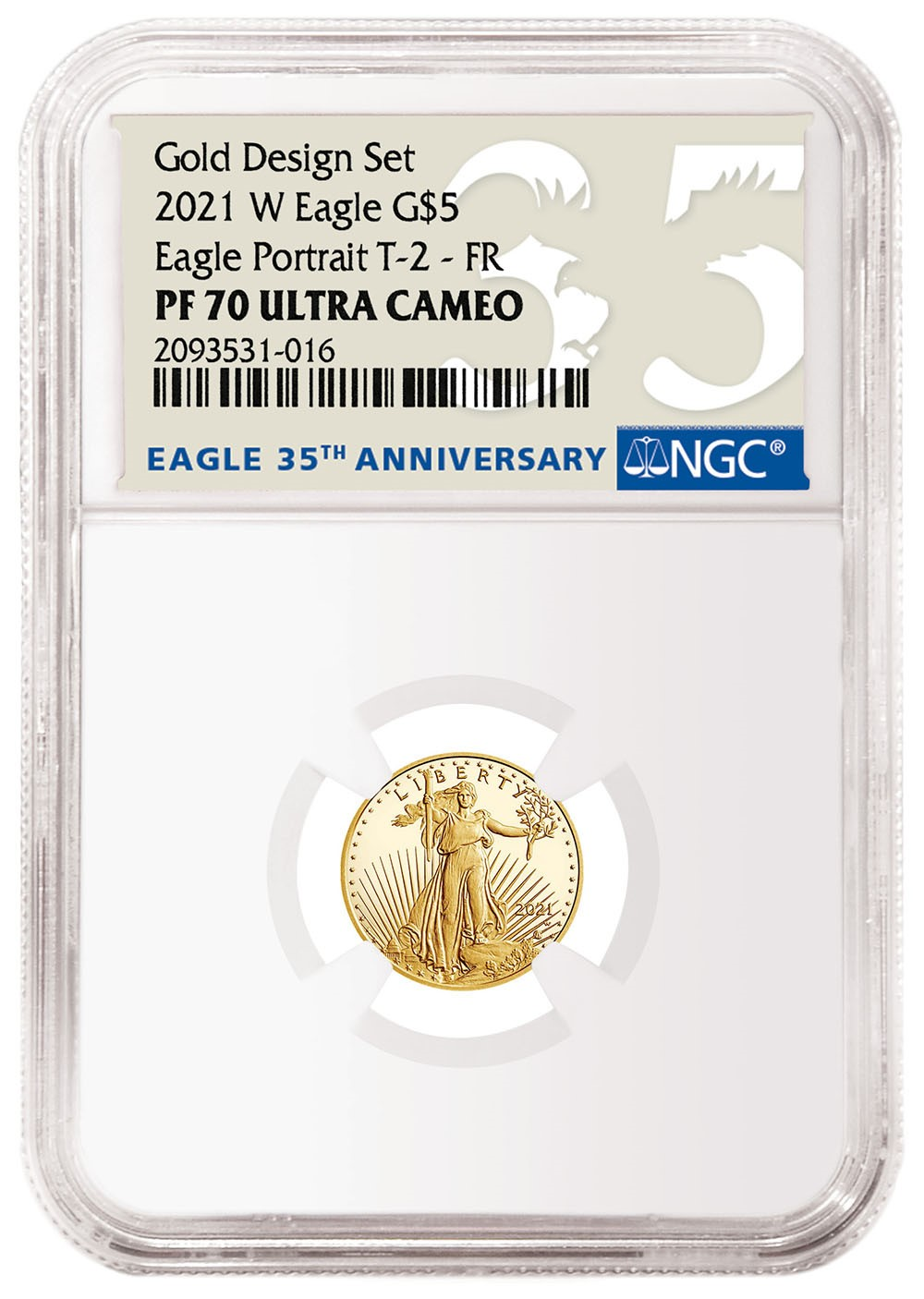 2021-W American Eagle Gold One-Tenth Ounce Type-2 (Image Courtesy of NGC)