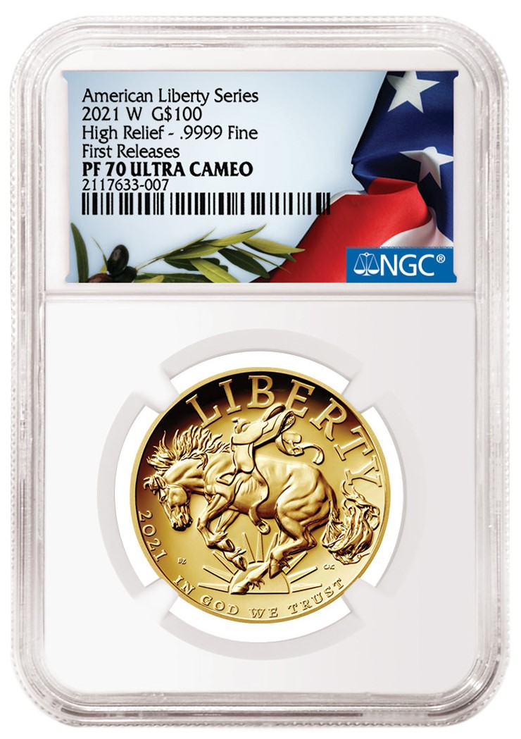 2021-W American Eagle Special Label from NGC (Image Courtesy of NGC)